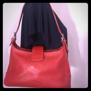Coach Red Leather Tote